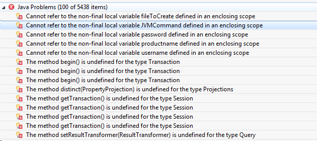 Cannot refer to the non-final local variable productname defined in an enclosing scope