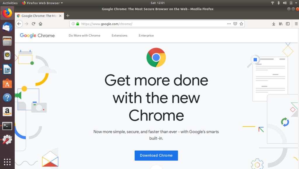 Google Chrome Download Page on Ubuntu