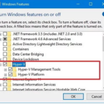 Hyper-V Windows Features