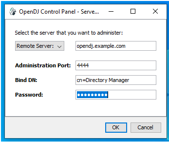 OpenDJ Control Panel