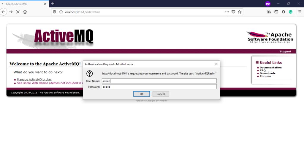 ActiveMQ Access Credentials
