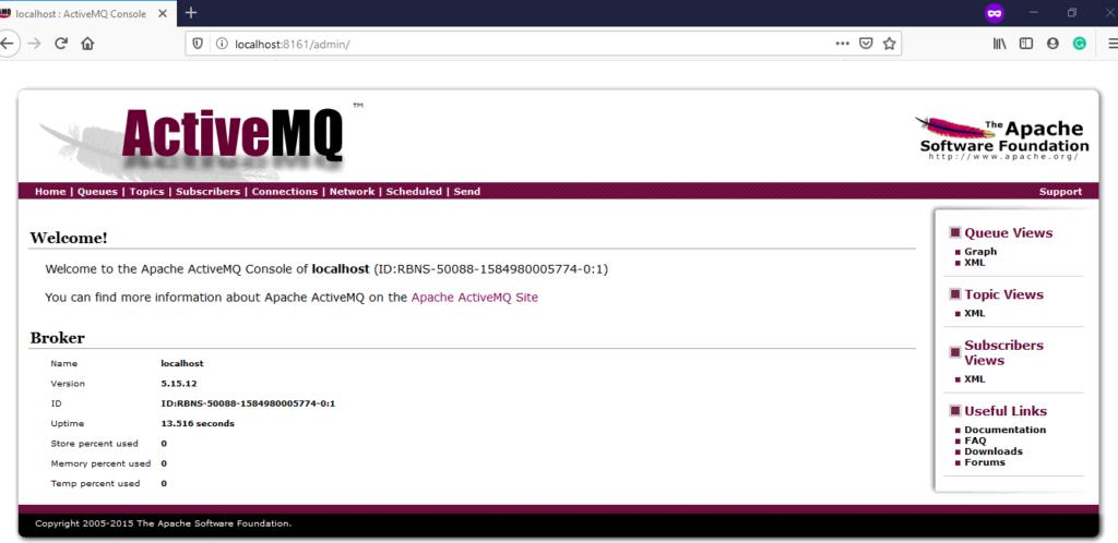 ActiveMQ Admin Home