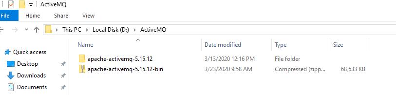 ActiveMQ Folder Structure
