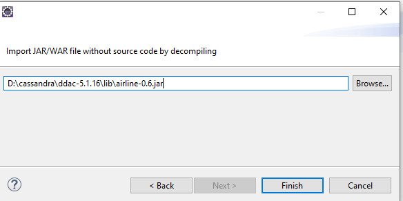 Eclipse jar without source jar file selected