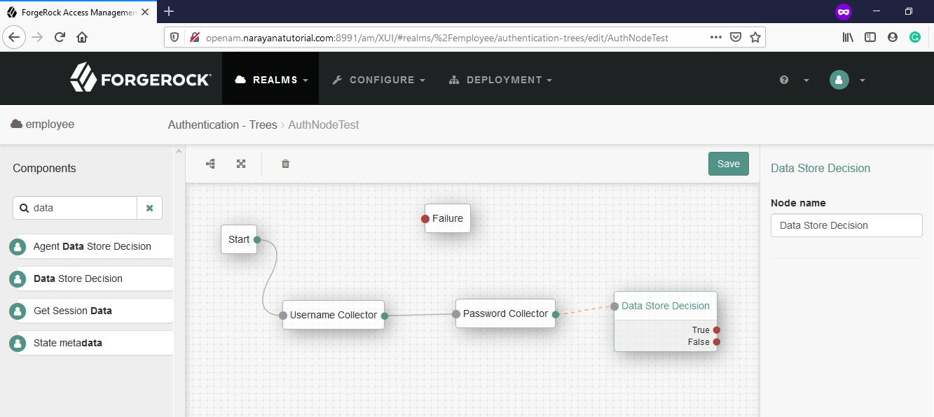 OpenAM-Data Store Decision-Collector-Node